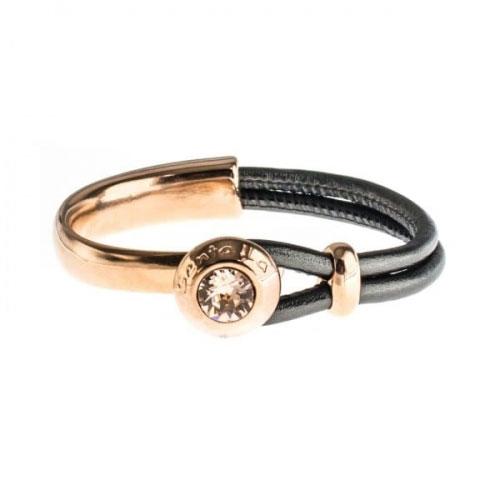 Senta La Vita Anthracite Metallic Half Bracelet with Swarovski Stone
