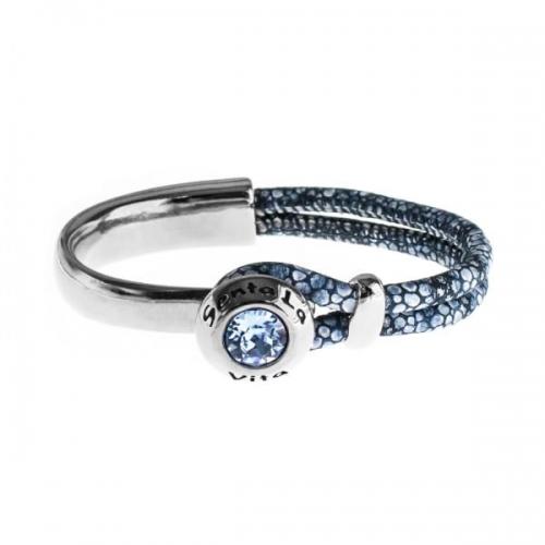 Senta La Vita Stingray Blue Half Bracelet with Swarovski Stone