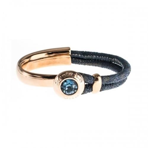 Senta La Vita Perlato Blue Half Bracelet with Swarovski Stone
