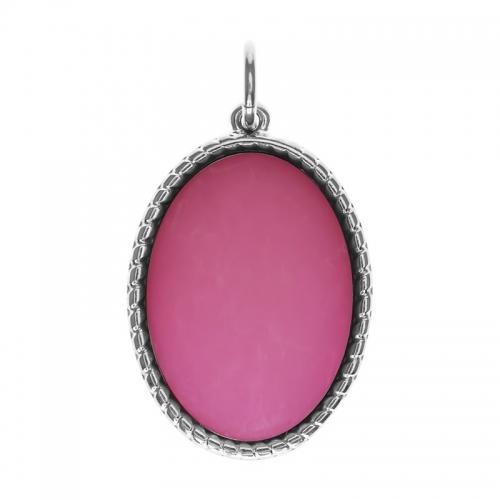 Senta La Vita  Oval Pink Matt Stone Pendant
