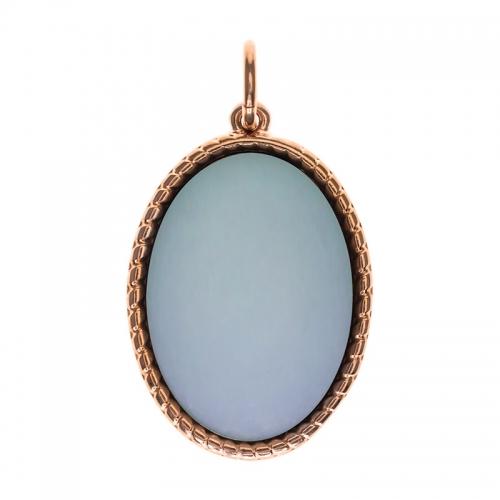 Senta La Vita  Oval Dusk Blue Matt Stone Pendant