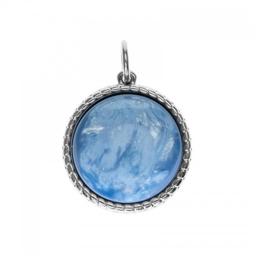 Senta La Vita  Round Sky Blue Shiny Stone Pendant