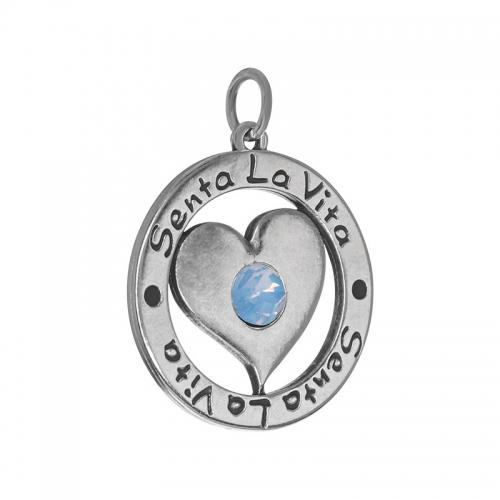 Senta La Vita  Air Blue Swarovski Heart Pendant