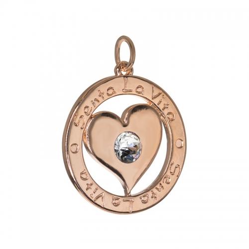 Senta La Vita  Clear Swarovski Heart Pendant