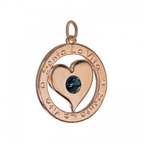 Senta La Vita  Light Sapphire Swarovski Heart Pendant
