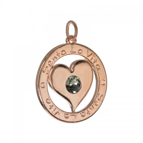 Senta La Vita  Black Diamond Swarovski Heart Pendant