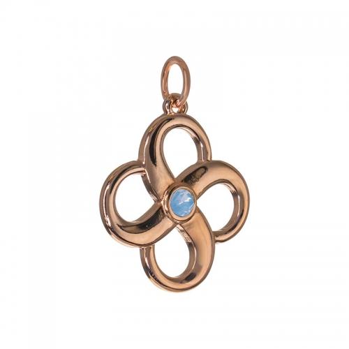 Senta La Vita  Air Blue Opal Swarovski Infinity Pendant