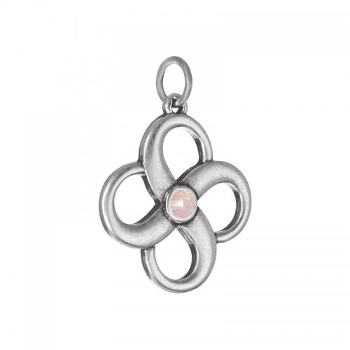 Senta La Vita  Rose Water Opal Swarovski Infinity Pendant