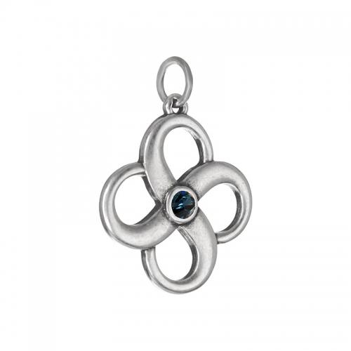 Senta La Vita  Blue Denim Swarovski Infinity Pendant