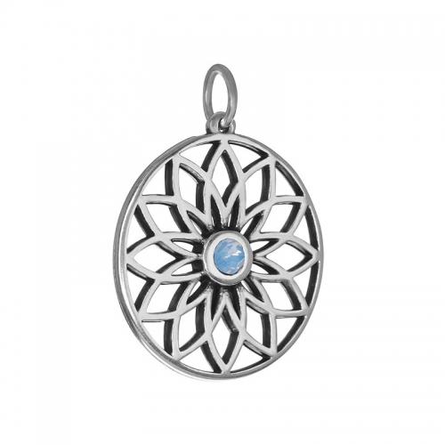 Senta La Vita  Air Blue Swarovski Lotus Pendant