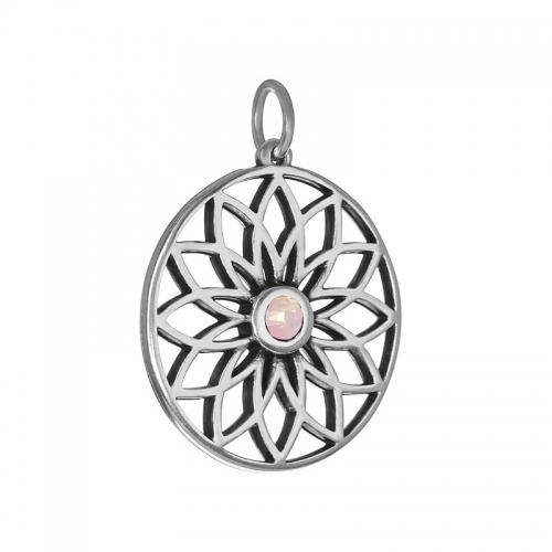 Senta La Vita  Rose Water Opal Swarovski Lotus Pendant