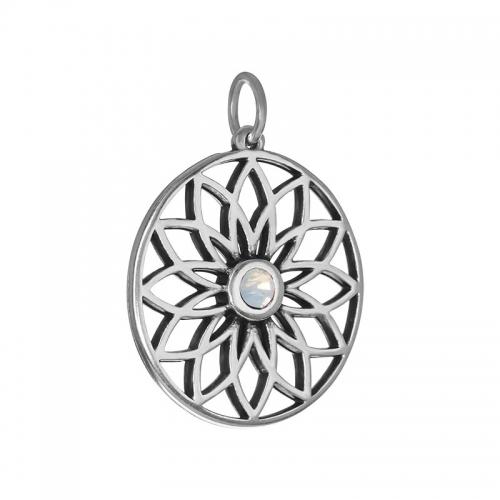Senta La Vita  White Opal Swarovski Lotus Pendant