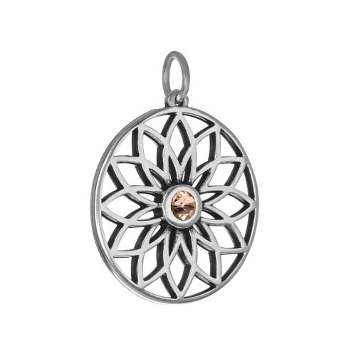 Senta La Vita  Peach Swarovski Lotus Pendant