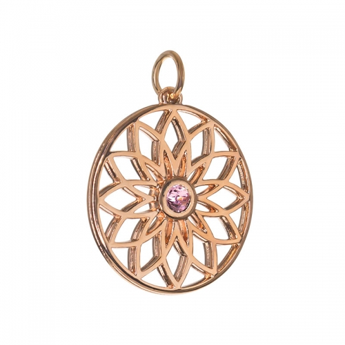 Senta La Vita  Light Rose Swarovski Lotus Pendant