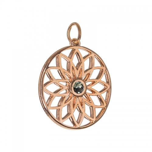 Senta La Vita  Black Diamond Swarovski Lotus Pendant