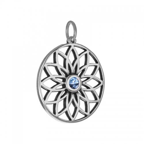 Senta La Vita  Light Sapphire Swarovski Lotus Pendant