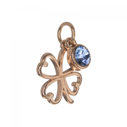 Senta La Vita  Light Sapphire Swarovski Open Clover Dangle Charm