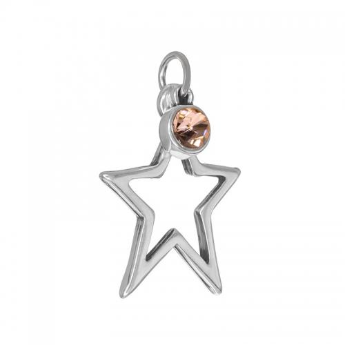 Senta La Vita  Peach Swarovski Star Pendant