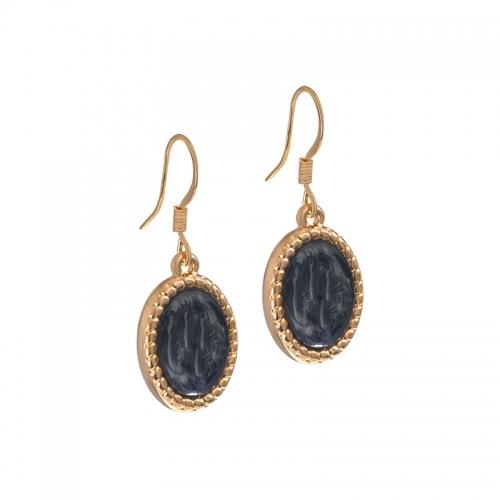 Senta La Vita Rose and Dark Grey Stone Earrings