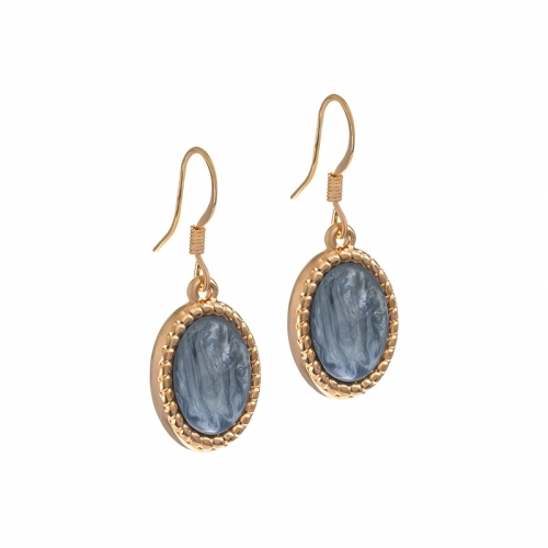 Senta La Vita Rose and Greyed Blue Shiny Stone Earrings
