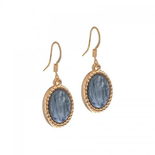 Senta La Vita Rose and Greyed Blue Shiny Stone Earrings