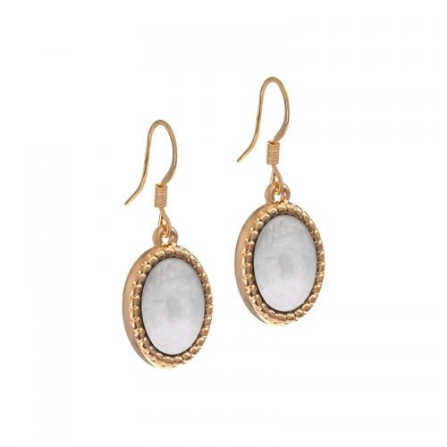 Senta La Vita Rose and White Stone Earrings