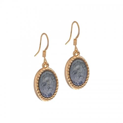 Senta La Vita Rose and Jet Grey Stone Earrings