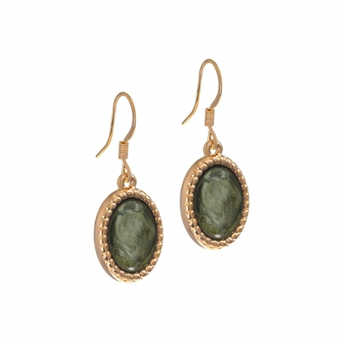 Senta La Vita Rose and Agave Green Stone Earrings