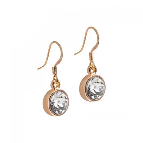 Senta La Vita Clear Swarovski Rose Earrings