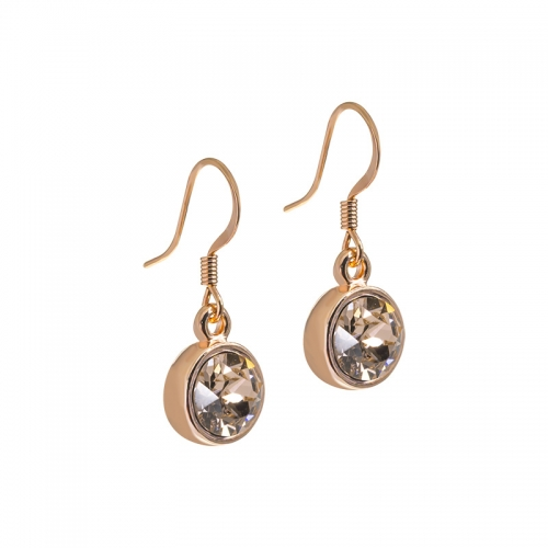 Senta La Vita Champagne Swarovski Rose Earrings