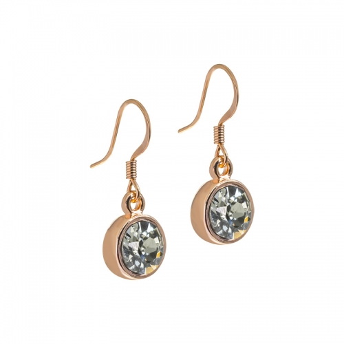 Senta La Vita Black Diamond Swarovski Rose Earrings