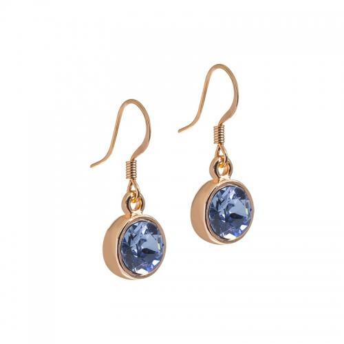Senta La Vita  Light Sapphire Swarovski Rose Earrings