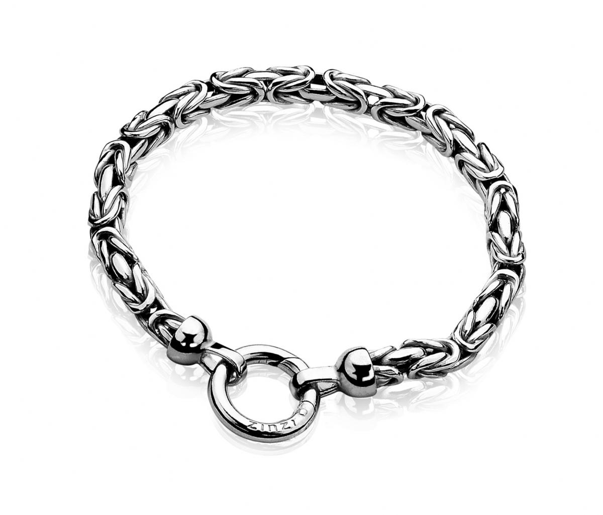 Zinzi Sterling Silver Royal Link Bracelet ZIA836