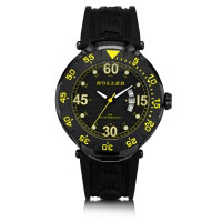 Holler Goldwax Sport Black & Yellow Watch