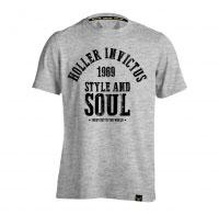 Holler Garvin Grey Marl And Black T-Shirt