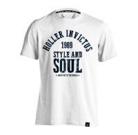 Holler Garvin White And Navy T-Shirt