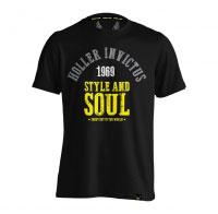 Holler Garvin Black, Grey, White & Yellow T-Shirt