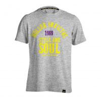 Holler Garvin Grey Marl, Yellow & Purple T-Shirt