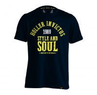 Holler Garvin Navy, Yellow & White T-Shirt