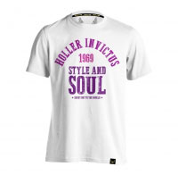 Holler Garvin White And 3 Shades Of Purple T-Shirt