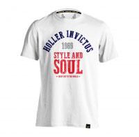Holler Garvin White, Navy, Grey & Red T-Shirt