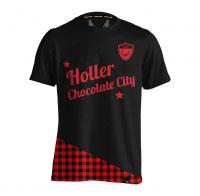 Holler Holman Black And Red Tartan T-Shirt