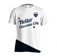 Holler Holman White And Navy T-Shirt