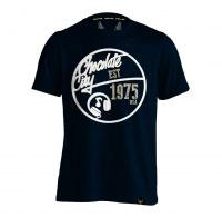 Holler Mello Navy, White And Mushroom T-Shirt