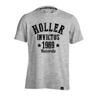 Holler Nomad Grey Marl And Black T-Shirt