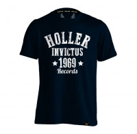 Holler Nomad Navy And White T-Shirt