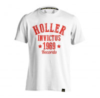 Holler Nomad White And Red T-Shirt