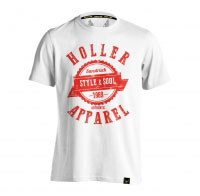 Holler Sinbad White And Red T-Shirt