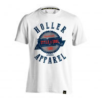 Holler Sinbad White, Navy, Grey And Red T-Shirt
