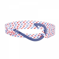 Holler Kirby  Blue Sandblasted Hook / White, Blue and Red Paracord Bracelet